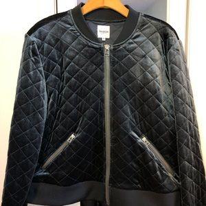 Dark teal velvet-like jacket